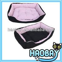 Pink Pin Check Designer Dog Large Pet Bed