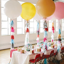 Hot sale Sweet Sprinkles Tissue Tassel Garland with ballon for party table decoration