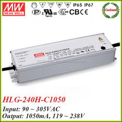 Meanwell HLG-240H-C1050 waterproof led driver ip67