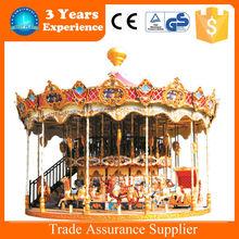 32 seats romantic amusement park carousel horses for sale fairground swing carousel in china