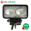 """Cheap Price 4.3"""" Rectangle 20W Led Truck Light with IP67 Waterproof"""