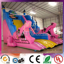 new design strong style colorful inflatable animal slide for kids fun