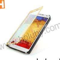 Touch Full-screen Wood Pattern Stand Leather Case for Samsung Galaxy Note 3 N9005 N9002 N9000