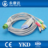 Fukuda ECG trunk cable with 5-leads, clip electrodes, IEC, 12pin