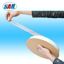Permanent bag sealing tape, left glue / right glue