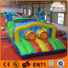 Inflatable Adult Sports Game,forest inflatable green obstacle,sports games inflatable