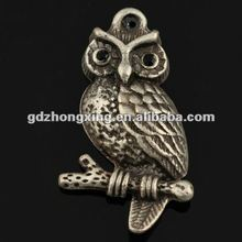 Wholesale pendant owl jewellry bird,Antique Silver Owl Animal Pendant for Jewelry making-A14895