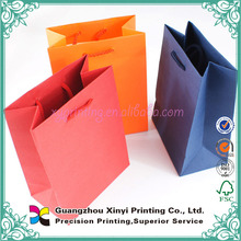 2015 China Wholesale different colour fancy paper cheap customzied paper bag for gift