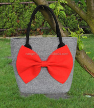 Cheap Fashionable Ladies or Women Folding Shopping Felt tote Bag For Promotion