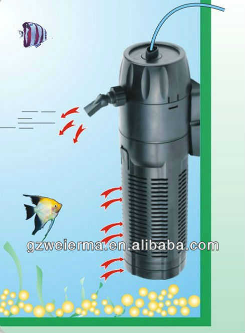Submersible pond filter pump pond bio filter with uv light for Underwater pond filter
