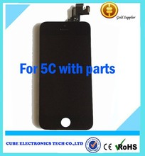 OEM LCD for iphone 5c with small parts home button&camera