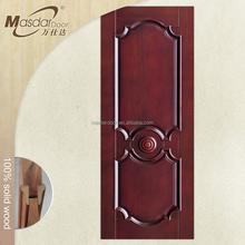 Decorativo exterior porta de madeira sólida fame
