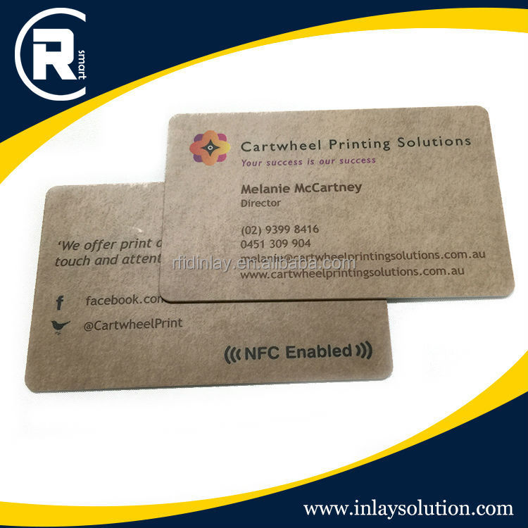 Rfid contact plastic business cards with s50 chip for Rfid business cards