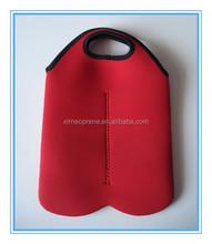 fashionable Wholesale Double Wine Neoprene Cooler Bottle Drink Bag Carrier Holder