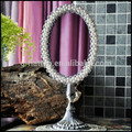 barroco de loto canaán retro clásica europea perla del ajuste hecho a mano espejo de escritorio
