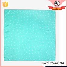 Perfect accessory seagull printed square scarf aqua square scarf
