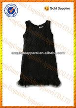 100% de lana el dobladillo de piel personalizada al por mayor los niños niñas de invierno de la moda de vestir