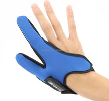 Adjustable Non-Slip palm Fishing Finger Protector Two-finger Rubber Fishing Gloves