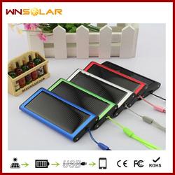 High Capacity Solar Power Bank 5000 mAh Waterproof External Solar Mobile Power