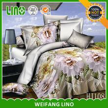 100% polyester 3d duvet cover set green/7pcs bedding set/custom comforter set