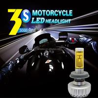 Super waterproof 3S motorcycle led headlight bulbs 9006 DC12V~24V 2200LM