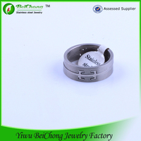 Children's storking latest ring design personalised cool casting stainless steel jewelry ring