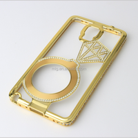 Luxury diamante babysbreath metal bumper frame mobile phone case for iphone 6s 6 plus for samsung s6 edge plus cell phone cover