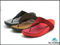 Newly EVA Sole Faux Leather Strap Women Slippers