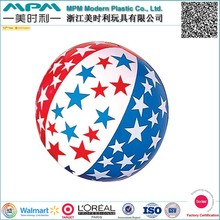inflatable glow beach ball for promontional toys