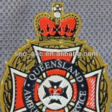 High Frequency Fine detail engraved mold making match sport team uniform TPU medallion heat transfer patch
