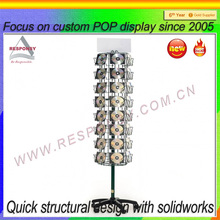 fashion design top quality wire spinning display stand