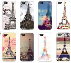Fashion Painted Eiffel Tower Design Case Cover for Apple i phone iPhone 4 4S 4G 5 5G 5S
