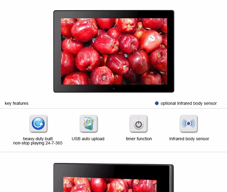 10 inch touch screen android digital photo frame for advertising