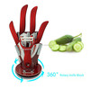 new products 360 rotating round acrylic knife display stand