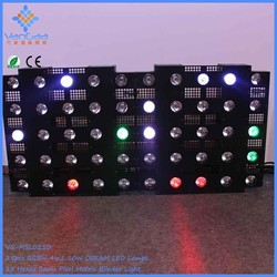 RGBW Led Pixel Matrix 5x5 Blinder light led wall stage blinder light
