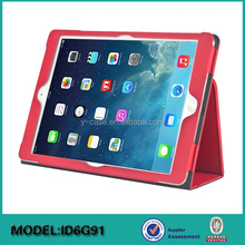 Folio stand leather case for iPad air 2 ; Leather flip case for iPad tablet