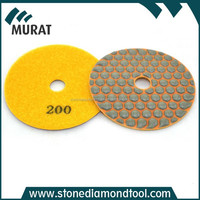 yellow 1500# convex edged polishing pads diamond hand pads