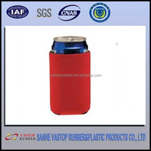Printed neoprene portable beer can cooler bag