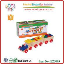 EN71 2015 popular Wooden pulling train toys