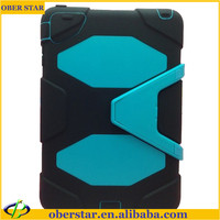 Heavy duty shockproof bumper kickstand tablet stand cover case for iPad mini
