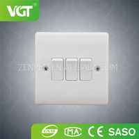 Hot Selling Good Reputation High Quality 3-Gang Electrical Switches