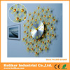 Modern decorative wrought iron wall clock with colorful crystal balls