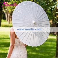 2014 42cm Stock Market Chinese Imports White Paper Parasols Wholesale