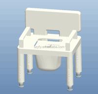elder durable plastic commode chair bath chair toilet chair