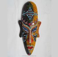 Imitation wood resin 3d african tribal masks wall decor