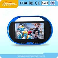 9 inch dvd/evd portable player with USB port input,FM radio,anolog TV,game function