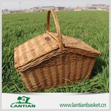 High quality 100% natural handmade Wicker picnic basket set