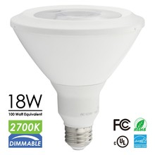 UL/CUL & Energy Star Approval, LED PAR lamps, 18W/1100lm, Warm/Cool White, Dimmable