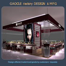 customized LED light glass jewelry display cases with top quality