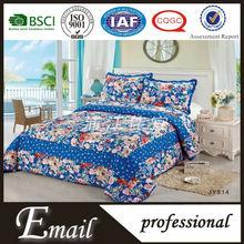 Luxury big flowers pattern polyester printed chinese wedding bedding set